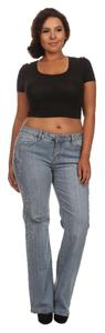 Other Plus Size Curvy Bling Straight Leg Jeans-Light Wash