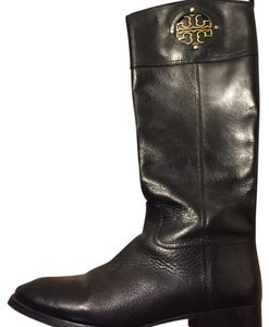 Tory Burch Black and gold Boots