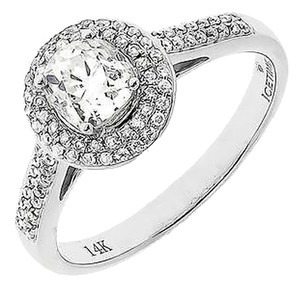 Jewelry Unlimited 14k,White,Gold,Ladies,Round,Solitaire,Diamond,Halo,Engagement,Wedding,Ring,1,Ct