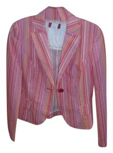 Hugo Boss Multi Color Multicolor pink red yellow stripe Jacket