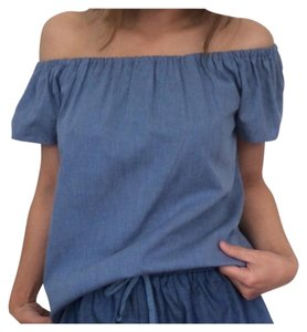 Other Boho Off Denim Chambray Tunic