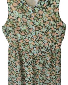 Volcom short dress Mint green and pink on Tradesy