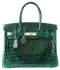 Herms Hermes Birkin Green Emerald Tote in Emeraude