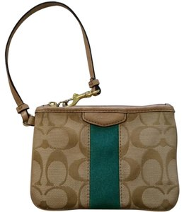 Coach Wristlet in Khaki/Green