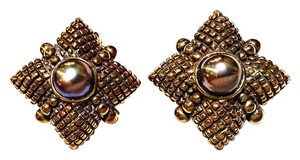 Stephen Dweck Stephen Dweck Sterling Silver Earrings With Dyed Black Pearl