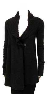 Vince Long One Button Collared Wrap Sweater