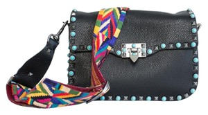 Valentino Studded Boho Guitar Strap Stampa Alce Calfskin Native Couture Cross Body Bag
