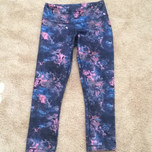 6c92a36b4d852 Lululemon Print: Pink and Navy Blue Wunder Under Ii Activewear ...