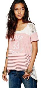 Free People New! T Shirt Cotton Candy