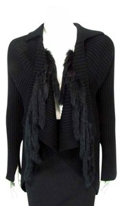 Sao Paulo Faux Fur Collared Wrap Sweater