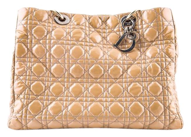 Item - Christian Beige Soft Shopping Nude Patent Leather Tote