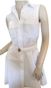 Theory short dress White Linen Shirtwaist Summer on Tradesy