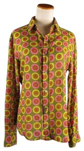 Dolce&Gabbana Poplin Shirt Daisy Print Shirt Button Down Shirt Multi