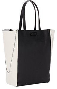Zac Posen Leather New York Eclectic Tote in Blk White