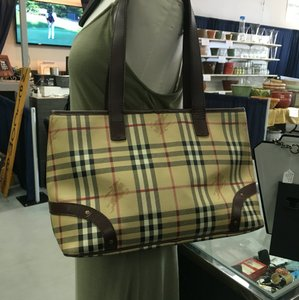 Burberry Satchel in Brown/ Check