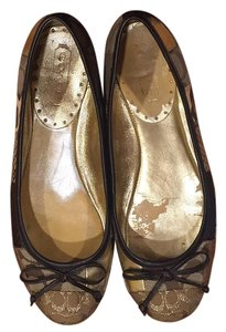 Coach Metallic/multi Flats