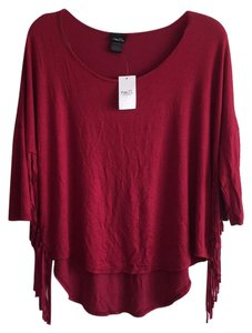 Rue 21 Top Red/Burgundy