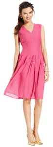 Anne Klein short dress Pink A-line Pleated on Tradesy