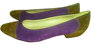 Salvatore Ferragamo Two-tone brown purple Pumps