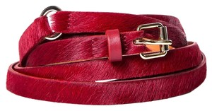 Maison Boinet Maison Boinet Burgundy Pony Hair Double Wrap Belt