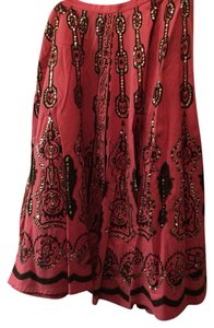 Moda International Maxi Skirt Pink and silver