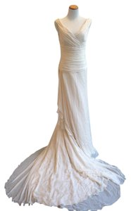 Manuel Mota Templo Ros Gasa Seda Wedding Dress