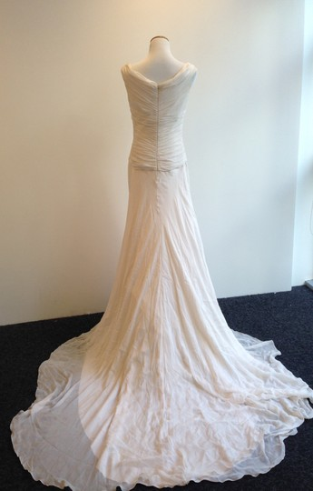 Pale Pink Silk Chiffon Templo Ros Gasa Seda Feminine Wedding Dress Size 10 (M)