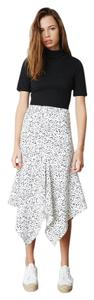 The Fifth Label Asymmetric Skirt white and black