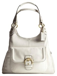 Coach Large Leather Matching Set White Shoulder Bag