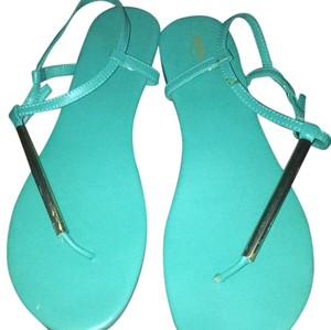 Mossimo Supply Co. Teal/Gold Sandals