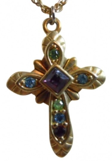 Premier Designs Premier Designs multi-color stone cross necklace