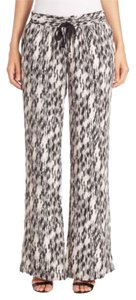 Joie Silk Flowy Flare Pants Black & White