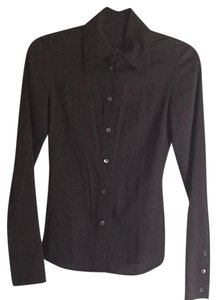 Gucci Button Up Dress Shirt Button Down Shirt Black