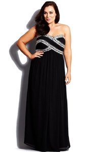 City Chic Black Polyester Blinged Up Formal Bridesmaid/Mob Dress Size 20 (Plus 1x)