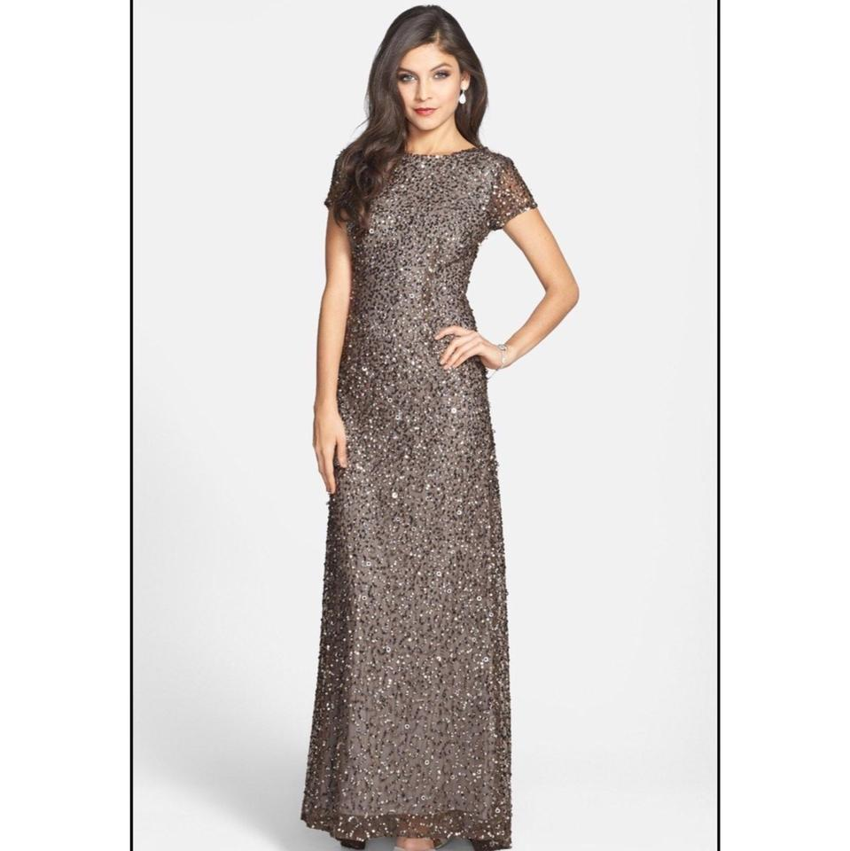 Adrianna Papell Lead Sequin Scoop Back Gown 09187460 Formal ...