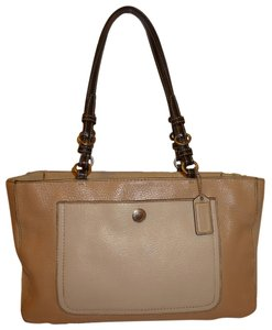 Coach Refurbished Leather Tote in Beige