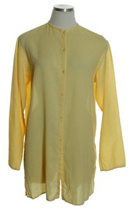 Eileen Fisher Woven Long Sleeve Sheer Tunic