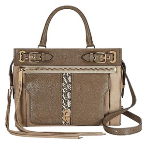 Rebecca Minkoff Satchel in Taupe Black Cream