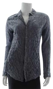 American Colors Button Up Button Down Shirt Gray