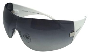 a6311774a1 Versace New VERSACE Sunglasses VE 2054 1000 8G Gunmetal   White w Grey Fade