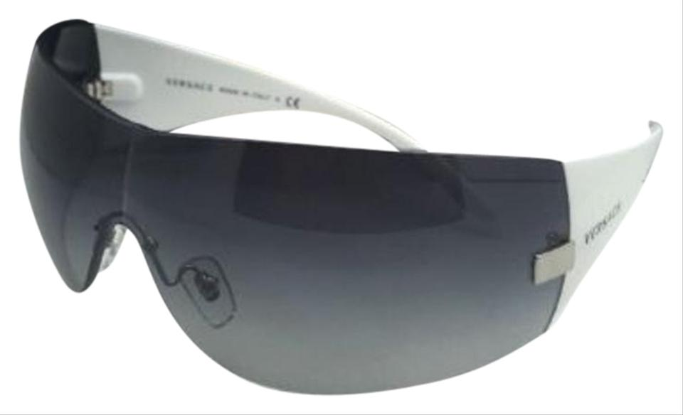e2a7165404 Versace New VERSACE Sunglasses VE 2054 1000 8G Gunmetal   White w Grey Fade  ...