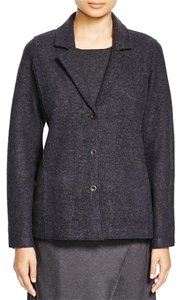 Eileen Fisher Boiled Wool CHARCOAL Jacket