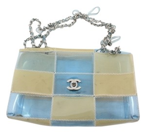 Chanel Clear Jelly Plastic Silver Strap Crossbody Shoulder Bag