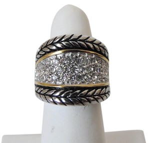 Other Emma Skye Pave Crystal Rope Stainless Steel Ring Size 8