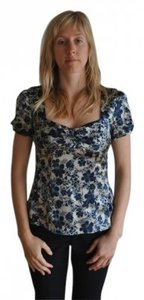 Nanette Lepore Top Grey and blue