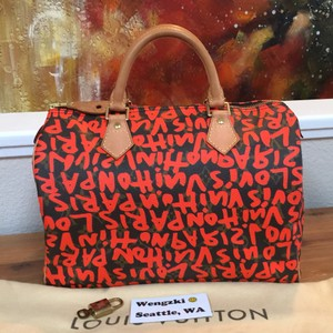Louis Vuitton Satchel in Stephen Sprouse Special Edition Speedy 30 in Graffiti! Great Condition! With Dustbag, Lock and Key.