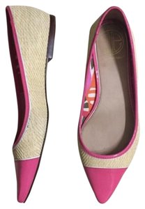 Lilly Pulitzer Pink and Natural Beige Flats