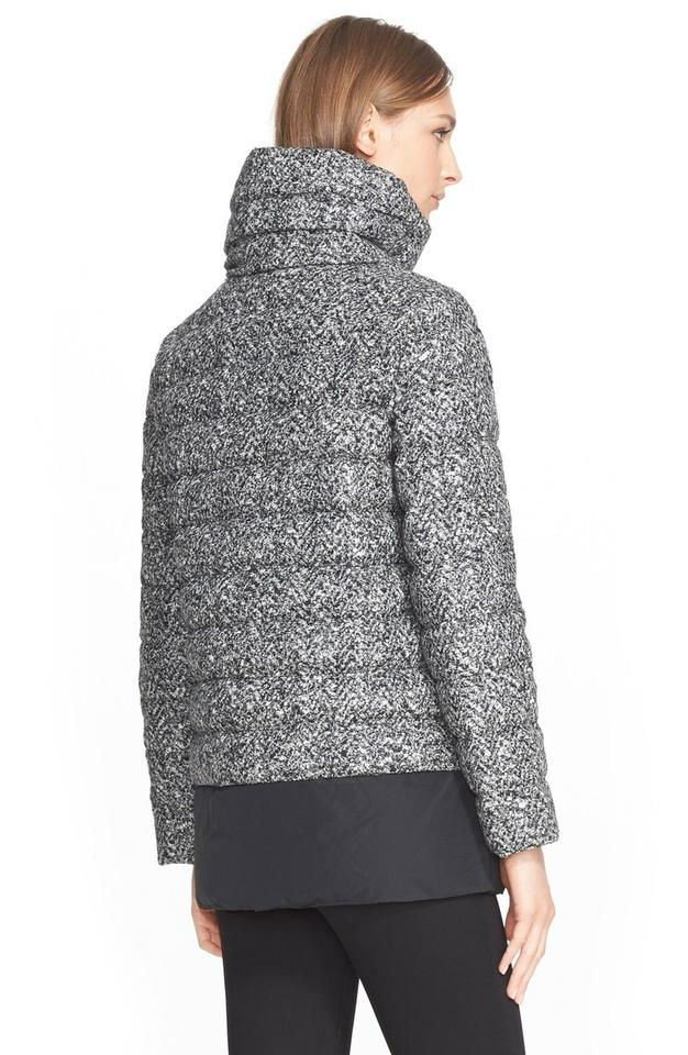 d81d37f23 Moncler Black and White Dauphin Water Resistant Tweed Down Puffer Coat Size  10 (M) 66% off retail