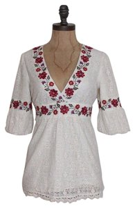 Forever 21 Lace Floral Embroidered Tunic