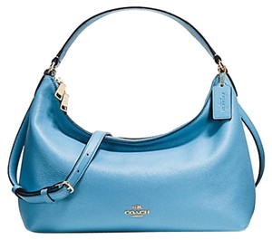 Coach Celeste Leather Shoulder Hobo Bag